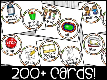 EDITABLE Visual Picture Direction Cards -  Woodland Picture Directions