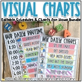 EDITABLE Visual Schedules and Charts for Learning at Home