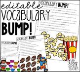 EDITABLE Vocabulary Game   Vocabulary BUMP Game for 1st-5th grade