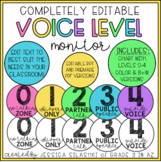 EDITABLE: Voice Level Monitor (Color & B+W Versions!)