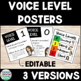 EDITABLE Voice Level Volume Posters 0-3