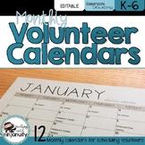 EDITABLE Volunteer Calendars