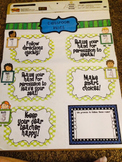 EDITABLE WBT Five Rules Poster-EVERYTHING INCLUDED!