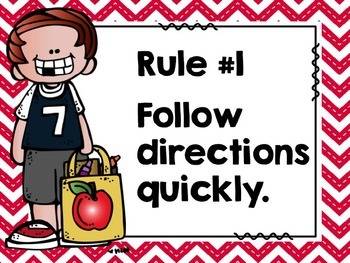 EDITABLE - WBT Rules and Editable slides to add your own rules- red chevron