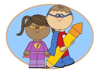 EDITABLE WORD WALL KIT & STUDENT WRITING BOOKLET {Super Hero theme}