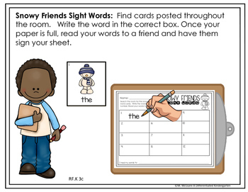 EDITABLE WRITE THE ROOM FOR SIGHT WORDS-JANUARY-DIFFERENTIATED