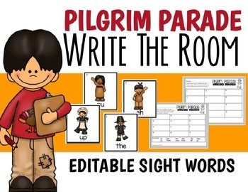 EDITABLE WRITE THE ROOM FOR SIGHT WORDS-NOVEMBER-DIFFERENTIATED