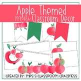 EDITABLE Watercolor Apple Classroom Decor
