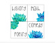 EDITABLE Watercolor Blue and Green Floral Library Labels
