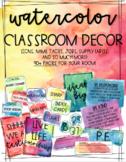 EDITABLE Watercolor Classroom Decor Set