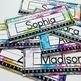EDITABLE Watercolor Desk Name Plates