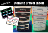 EDITABLE Watercolor Steralite Drawer Labels