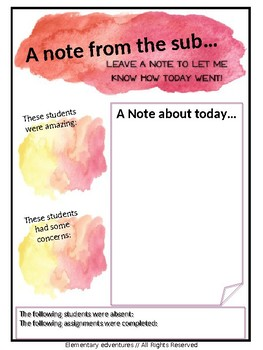 EDITABLE Watercolor Sub Binder