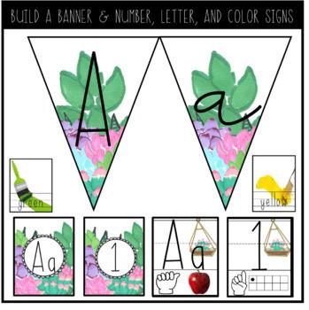 EDITABLE Watercolor Succulents Classroom Decor Pack