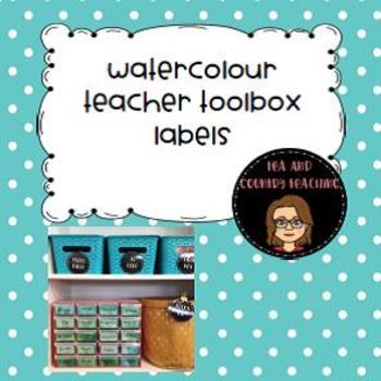 EDITABLE Watercolour Teacher Toolbox Labels