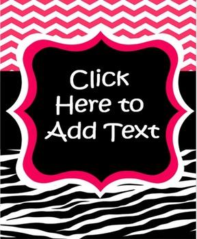 EDITABLE Watermelon and Zebra Print Teacher Binder Covers