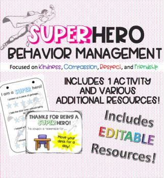 EDITABLE! We are SUPERhero ID Tags - a kindness activity