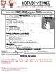 EDITABLE Weekly Friday Report|Classroom News & Behavior| English and Spanish