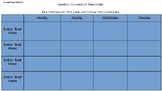 EDITABLE Weekly Homework Template