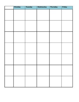 EDITABLE Weekly Schedule and Lesson Plan Templates