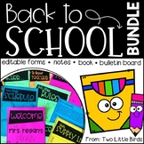 Back to School Activities-Back to School Forms, First Day Book, Bulletin Board