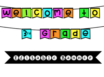 EDITABLE Welcome Banner