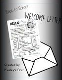 EDITABLE Welcome Letter
