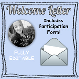 EDITABLE Welcome Letter & Participation Form (for instrumental music teachers)