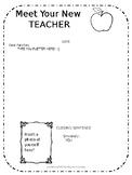 EDITABLE Welcome / Meet Your New Teacher Letter & Supply List