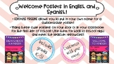 EDITABLE Welcome Posters English/Spanish