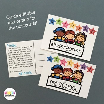 EDITABLE Welcome to School Pack - Preschool, Pre-K, Kindergarten