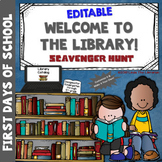EDITABLE Welcome to the Library: Scavenger Hunt!