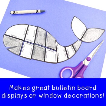 EDITABLE Whale Activity Page or Game | Make a Puzzle on ANY Topic!