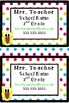 EDITABLE What's My Number & Teacher Business Cards