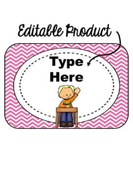 EDITABLE When I'm done I can... (pink chevron background)