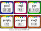 EDITABLE White CLASSROOM Labels {for Target Dollar Spot SQUARE pockets}