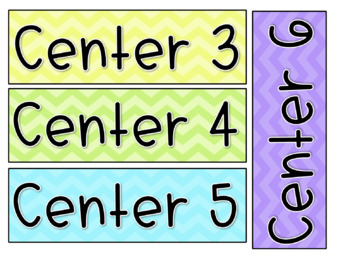 EDITABLE White board headers/labels * Colorful Chevron