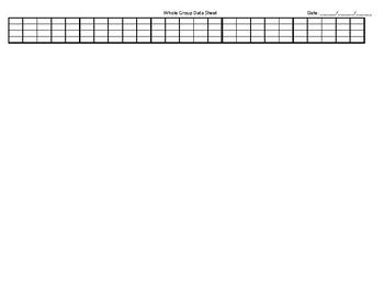 EDITABLE Whole Group Data Sheet - Special Education Classroom