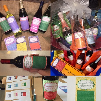 EDITABLE Wine Gift Labels