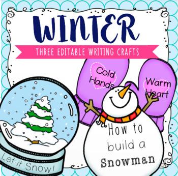 EDITABLE Winter Writing Crafts