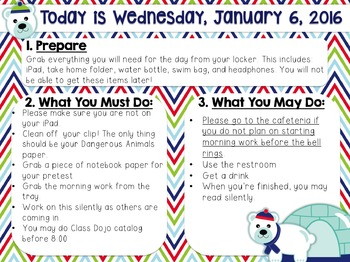 editable winter morning work message template by breanna newell tpt
