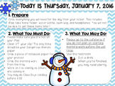 EDITABLE Winter Morning Work/Message Template