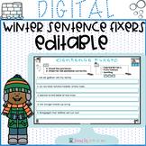 EDITABLE Winter Sentence Fixers for Google Classroom