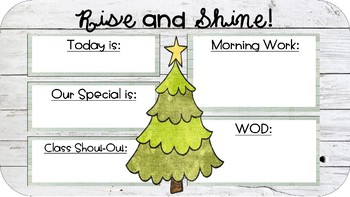 EDITABLE (Winter-Themed) Daily Message Display!