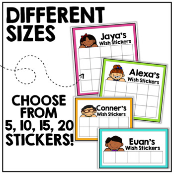 EDITABLE Wish Sticker Incentive Charts
