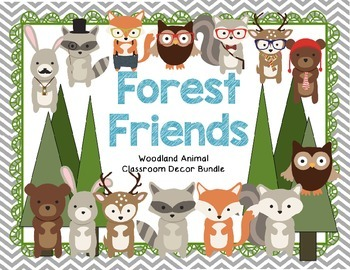 *EDITABLE* Woodland Forest Animal Theme Classroom Decor