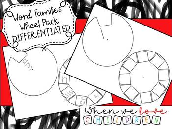 Word Families Wheel DIFFERENTIATED