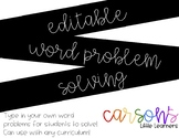 EDITABLE - Word Problem Helper