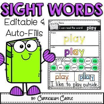 Word Work EDITABLE