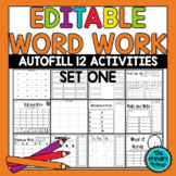 EDITABLE Word Work